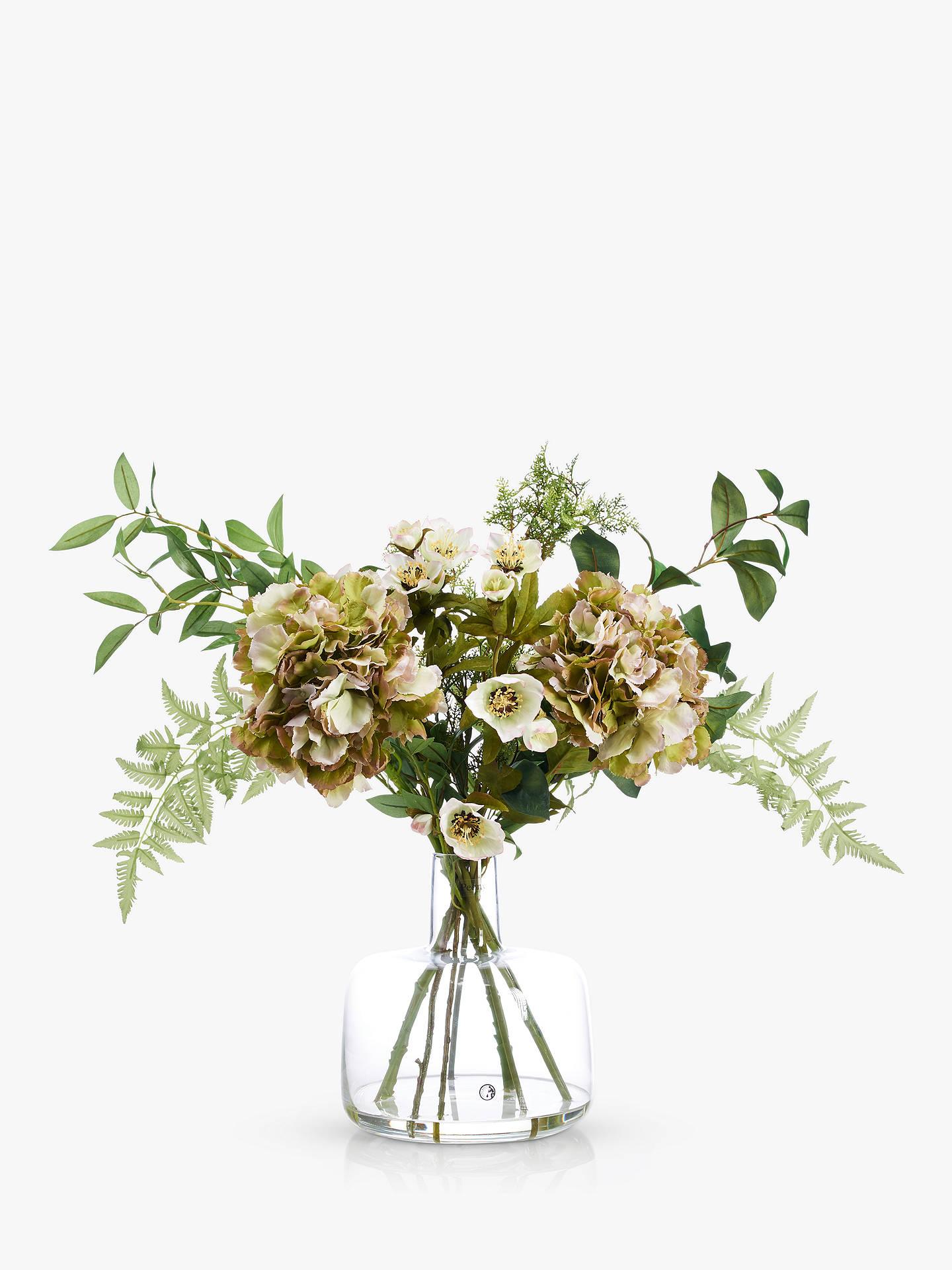Peony Hydrangea Hellebore Artificial Flowers In Vase At John Lewis Partners