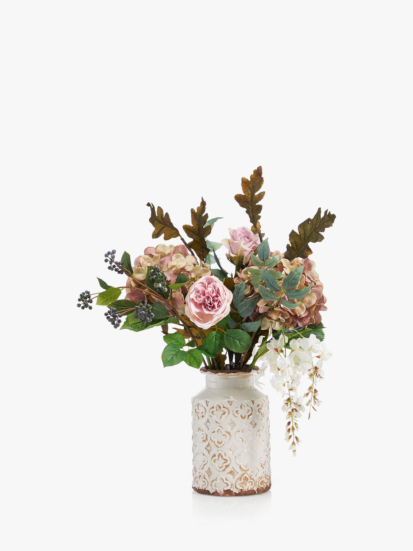 259 & Peony Vintage Autumn Mix Artificial Flowers in Vase