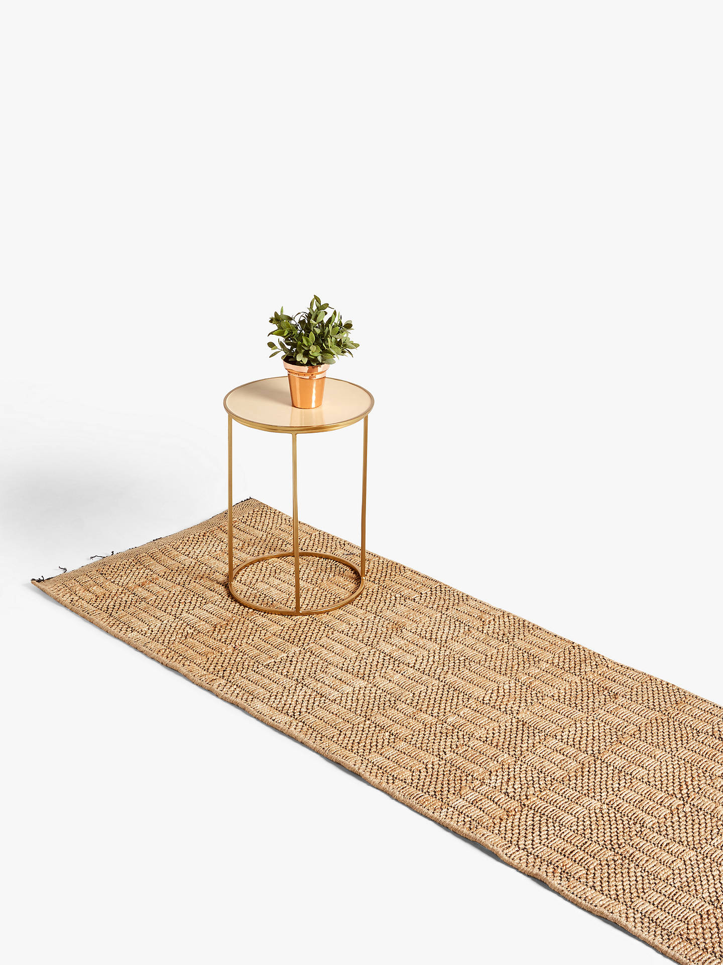 Buy John Lewis & Partners Checkerboard Jute Runner Rug, L240 x W70 cm, Natural Online at johnlewis.com