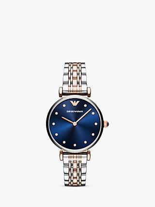 2883efdc2d98 Emporio Armani AR11092 Women s Cubic Zirconia Bracelet Strap Watch
