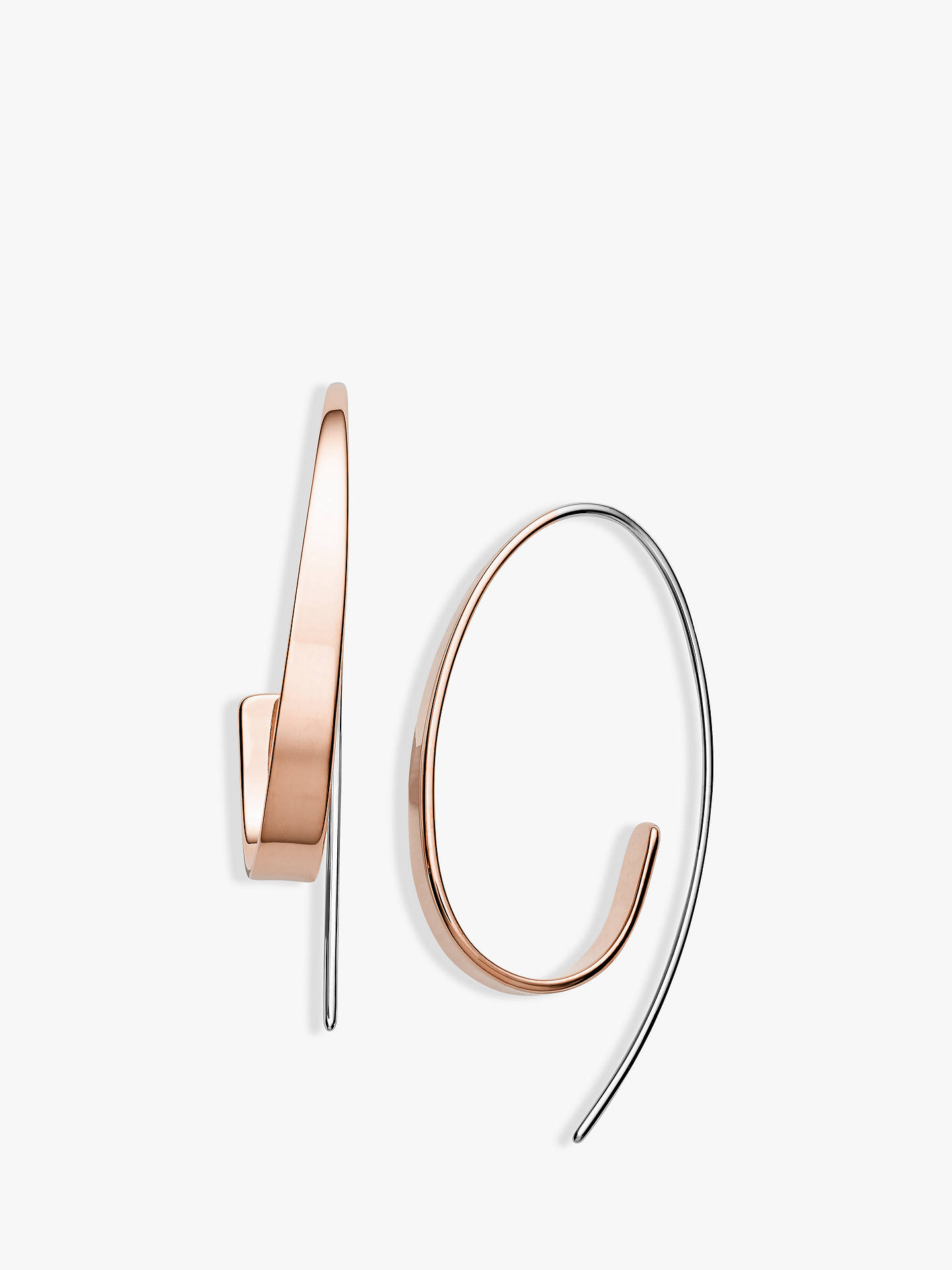 Buy Skagen Swirl Drop Earrings, Rose Gold/Silver SKJ1213998 Online at johnlewis.com
