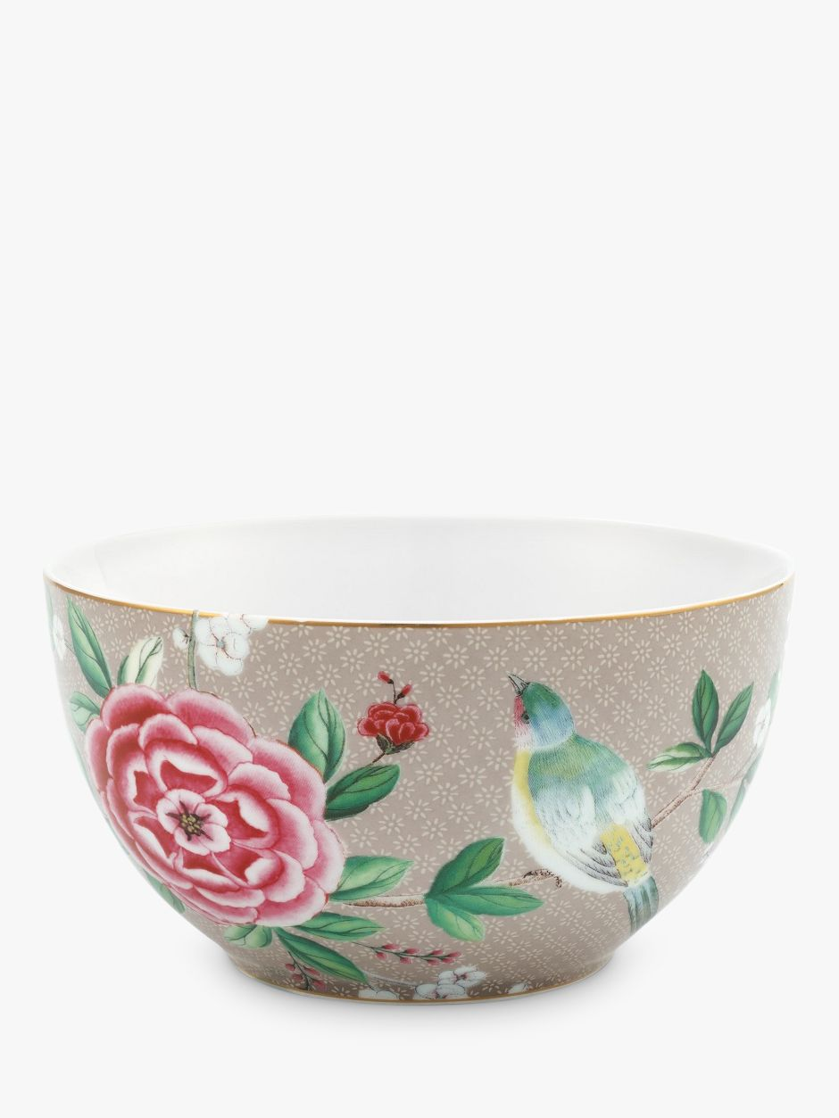PiP Studio PiP Studio Blushing Birds Bowl, 15cm, Khaki/Multi