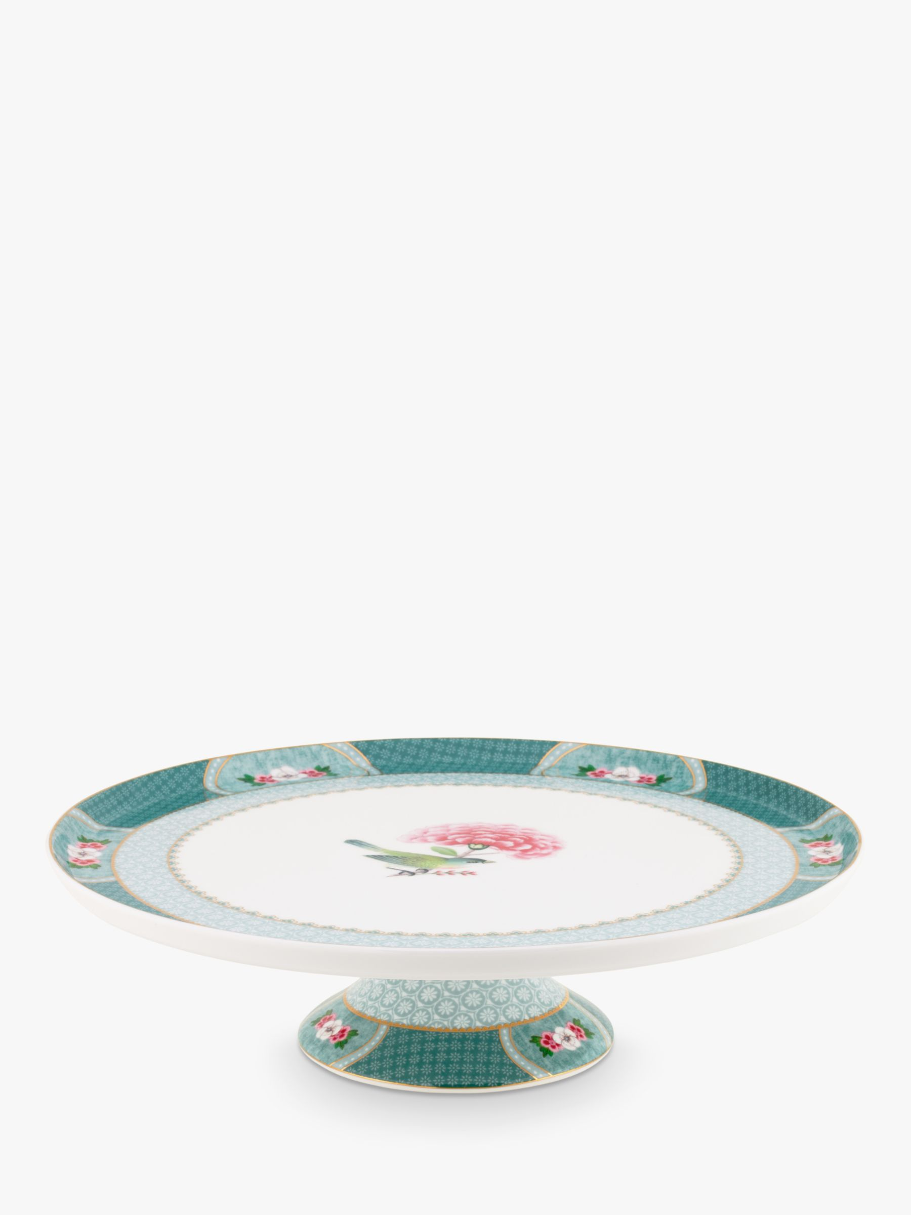 PiP Studio PiP Studio Blushing Birds Footed Cake Stand, 31cm, Blue