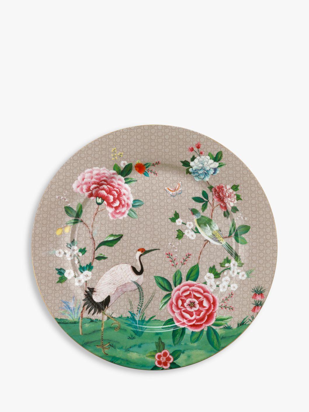PiP Studio PiP Studio Blushing Birds Charger Plate, 32cm, Khaki/Multi