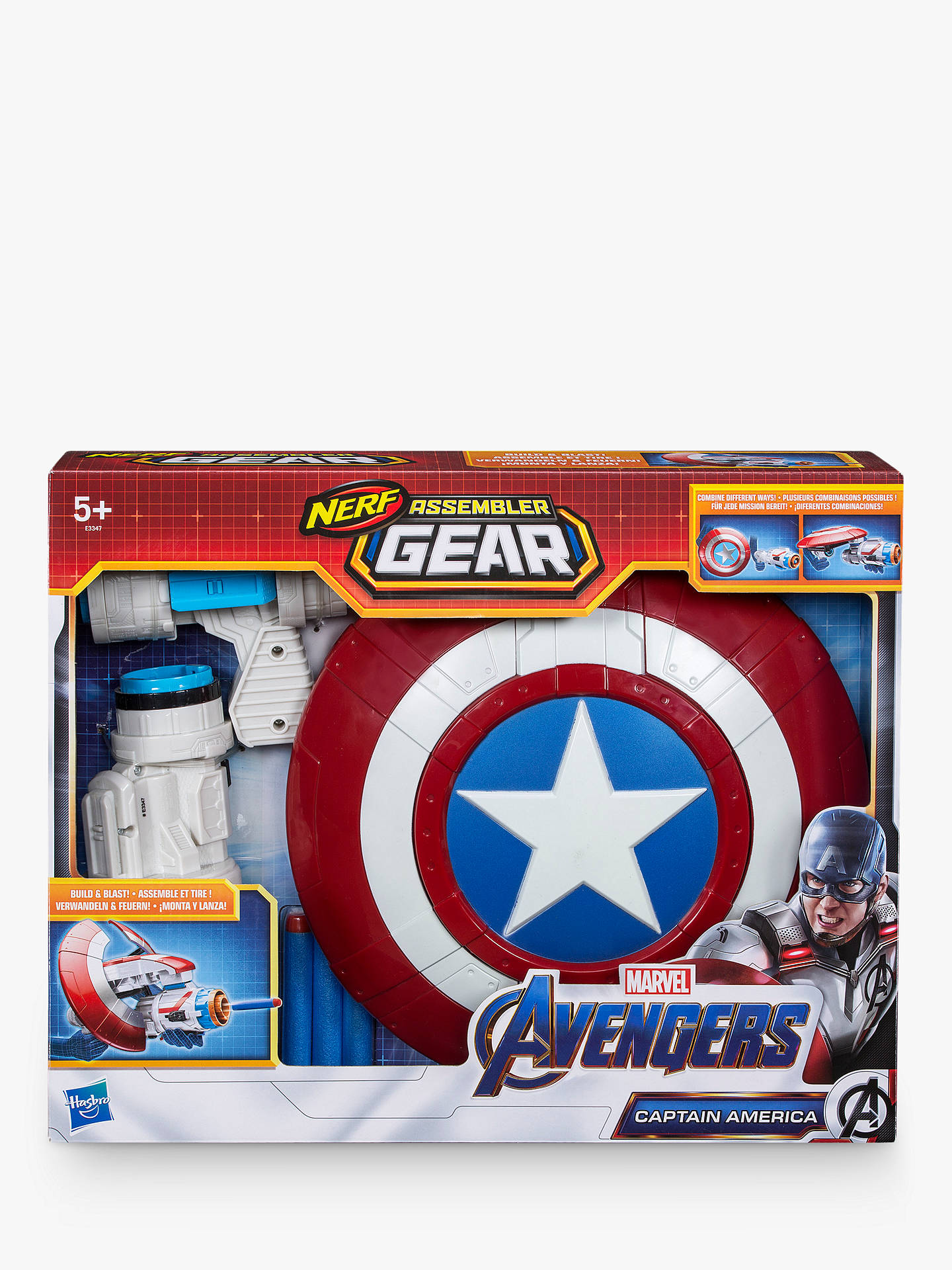 eb6e6709e3 Buy Marvel Avengers: Endgame Nerf Captain America Assembler Gear Online at  johnlewis.com ...