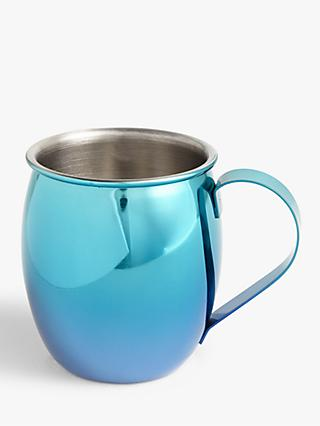 John Lewis & Partners Party Stainless Steel Moscow Mule Cocktail Mug, 560ml