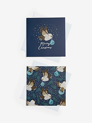 John Lewis & Partners Night Owl Charity Christmas Cards, Pack of 10