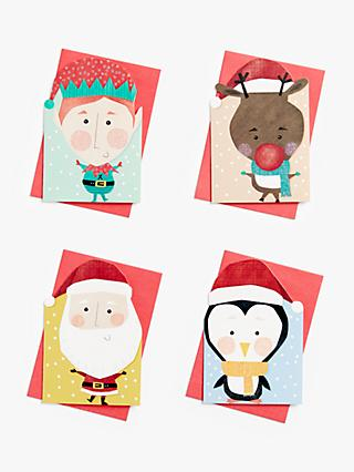John Lewis & Partners Christmas Characters Mini Charity Christmas Cards, Pack of 24