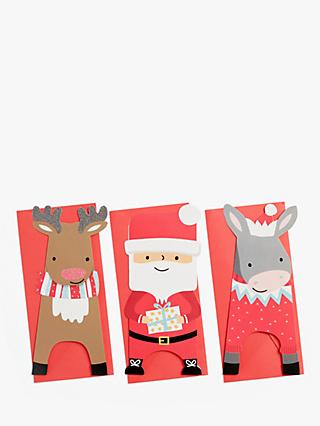 John Lewis & Partners Santa & Friends Charity Christmas Cards, Pack of 24