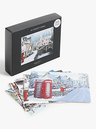 John Lewis & Partners Village Life Charity Christmas Cards, Pack of 25