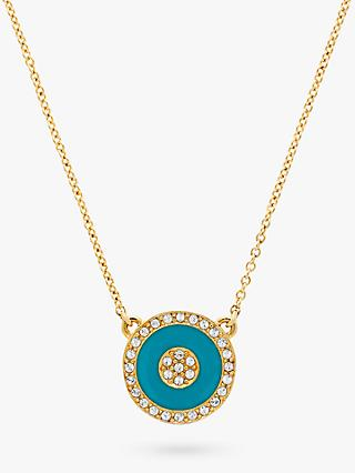 e216b95ef66 Melissa Odabash Swarovski Crystal Enamel Round Pendant Necklace