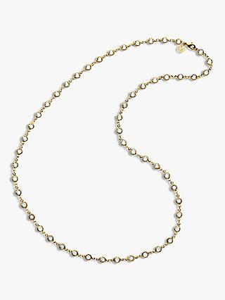Melissa Odabash Swarovski Crystal Long Chain Necklace, Gold