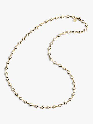 f8a39016b Melissa Odabash Swarovski Crystal Long Chain Necklace, Gold