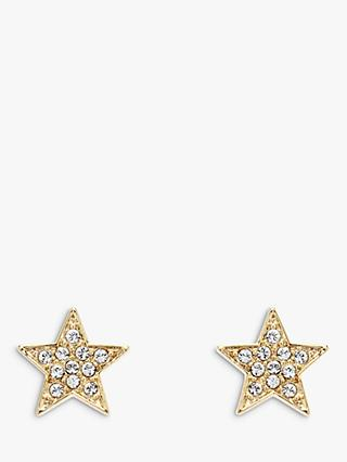 Melissa Odabash Swarovski Crystal Star Stud Earrings, Gold
