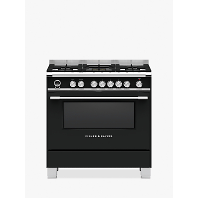 Image of Fisher & Paykel 90cm OR90S Single Multifunction Oven Dual Fuel Range Cooker, A Energy Rating