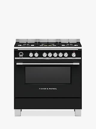 Fisher & Paykel 90cm OR90S Single Multifunction Oven Dual Fuel Range Cooker, A Energy Rating