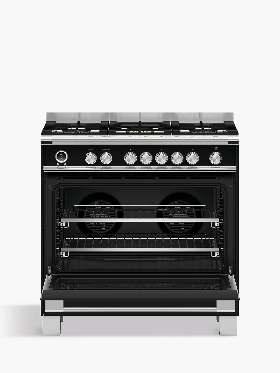 Buy Fisher & Paykel OR90SCG6B1 90cm Single Multifunction Oven Dual Fuel Range Cooker, A Energy Rating, Black Online at johnlewis.com