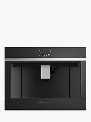 Fisher & Paykel EB60DSXB2 60cm Built-In Bean-to-Cup Coffee Machine, Gloss Black