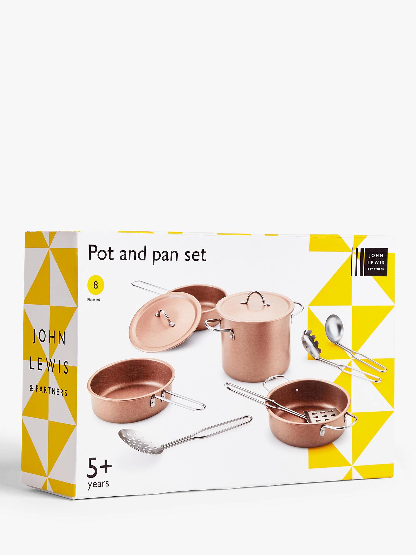 John Lewis & Partners Toy Pots And Pans Set