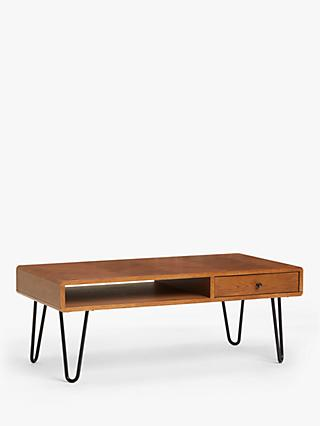 John Lewis & Partners Hairpin Coffee Table, Dark Oak