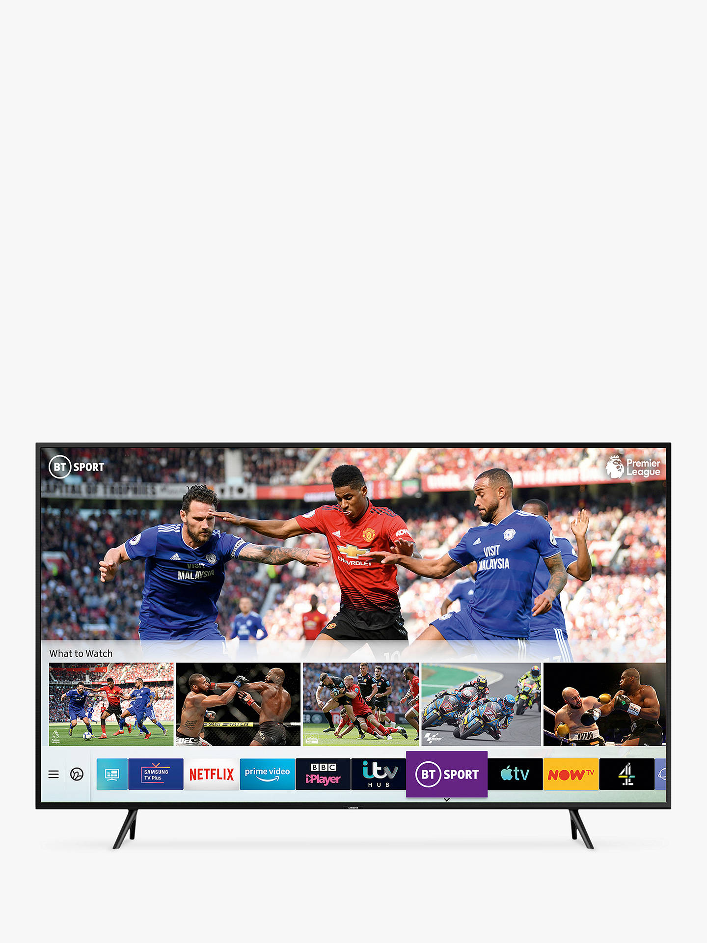 "Buy Samsung QE65Q60R (2019) QLED HDR 4K Ultra HD Smart TV, 65"" with TVPlus/Freesat HD & Apple TV App, Charcoal Black Online at johnlewis.com"