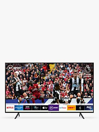 "Samsung UE55RU7100 (2019) HDR 4K Ultra HD Smart TV, 55"" with TVPlus & Apple TV App, Charcoal Black"