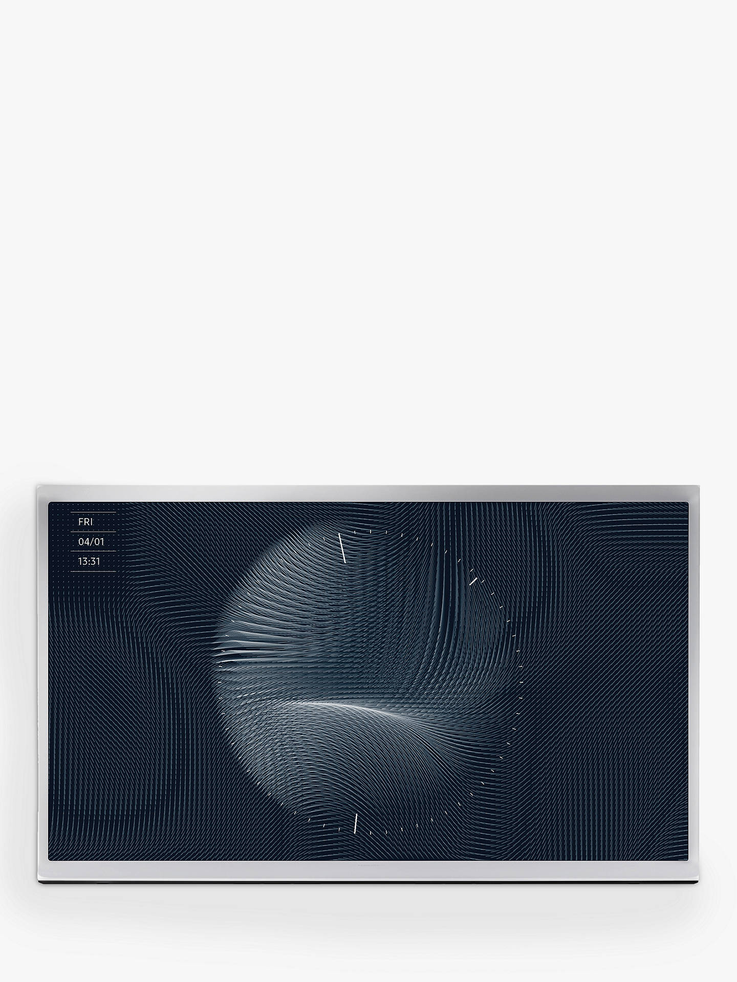 "Buy Samsung The Serif (2019) QLED HDR 4K Ultra HD Smart TV, 49"" with TVPlus, Apple TV App & Bouroullec Brothers Design, White Online at johnlewis.com"