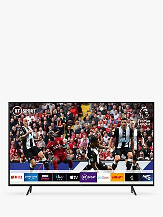 "Samsung QE43Q60R (2019) QLED HDR 4K Ultra HD Smart TV, 43"" with TVPlus/Freesat HD & Apple TV App, Charcoal Black"
