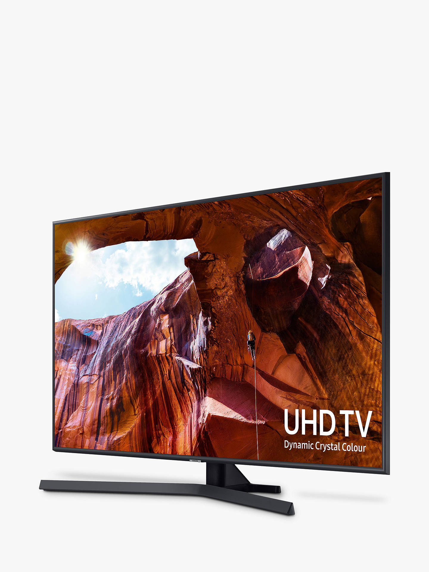 "Buy Samsung UE50RU7400 (2019) HDR 4K Ultra HD Smart TV, 50"" with TVPlus/Freesat HD & Apple TV App, Titan Gray Online at johnlewis.com"