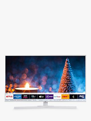 "Samsung UE43RU7410 (2019) HDR 4K Ultra HD Smart TV, 43"" with TVPlus/Freesat HD & Apple TV App, White"