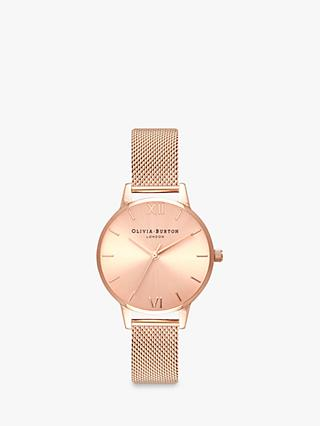 605b9ff952d Olivia Burton Women s Sunray Mesh Bracelet Strap Watch