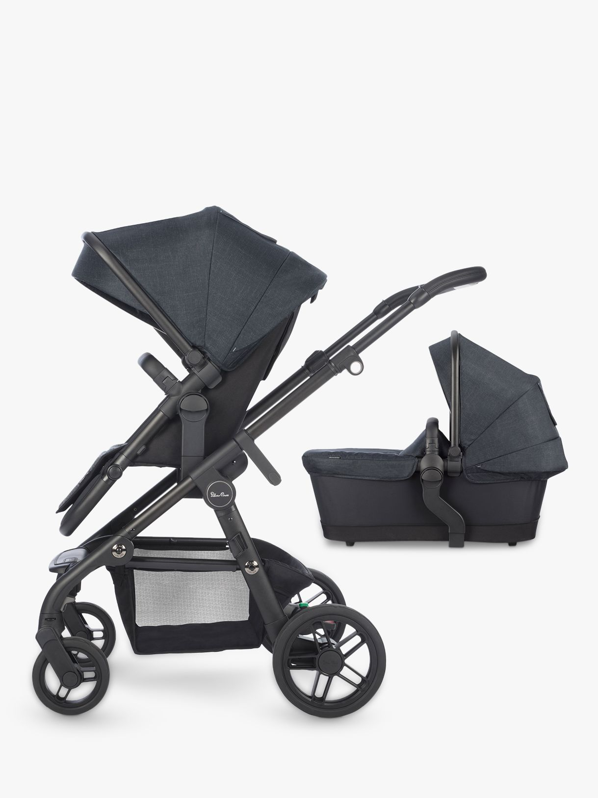 Silver Cross Silver Cross Coast Pushchair and Carrycot, Flint