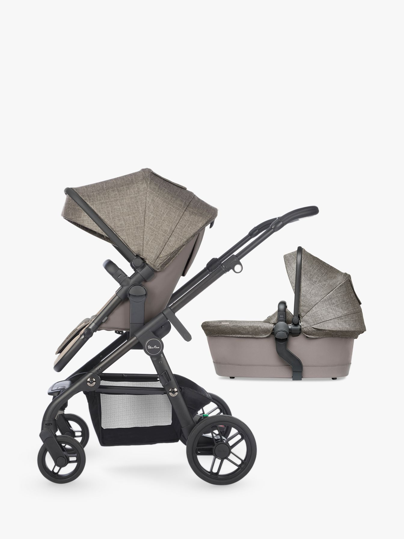 Silver Cross Silver Cross Coast Pushchair and Carrycot, Tundra