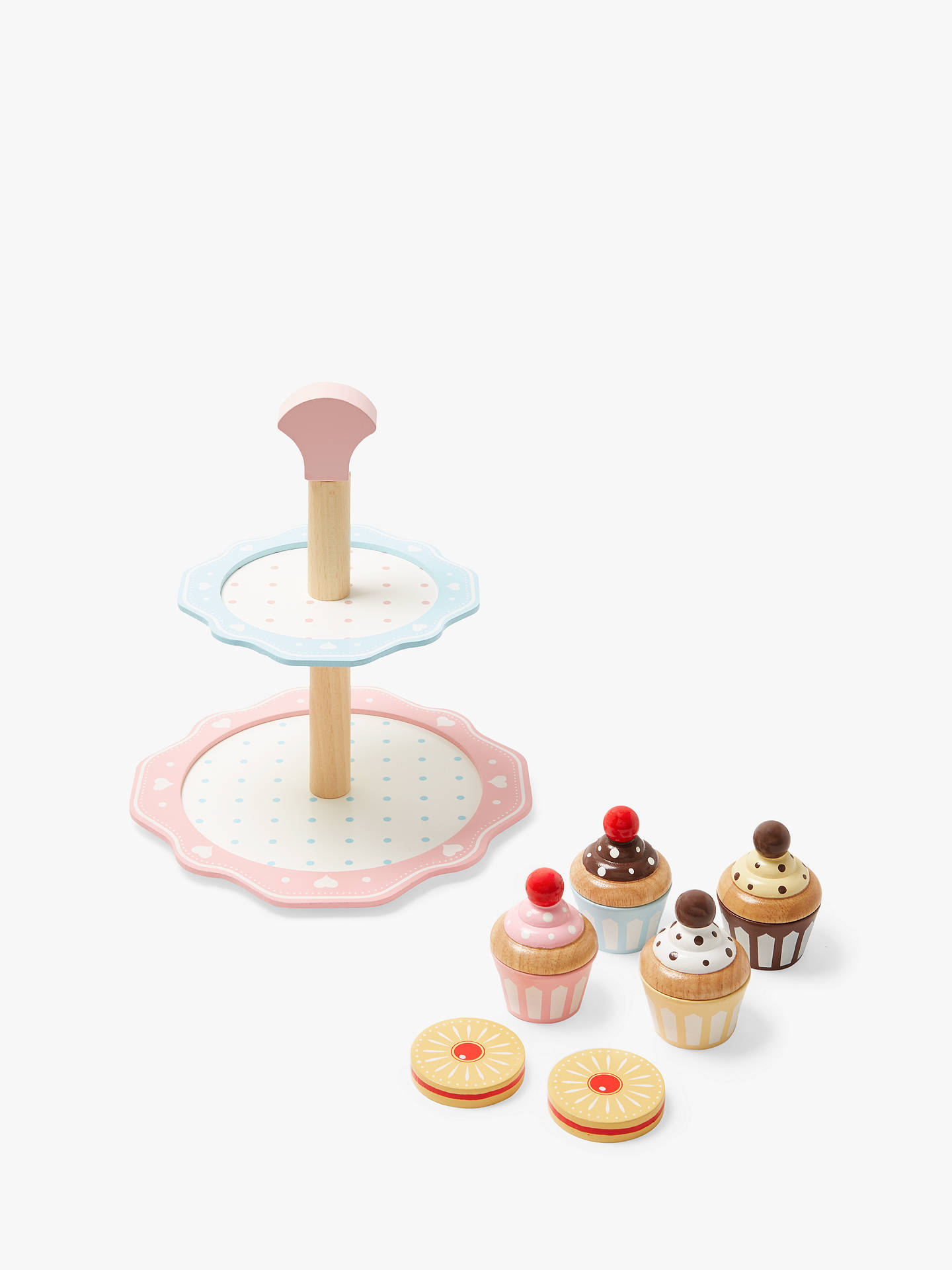 John Lewis & Partners Wooden Cake Stand by John Lewis & Partners
