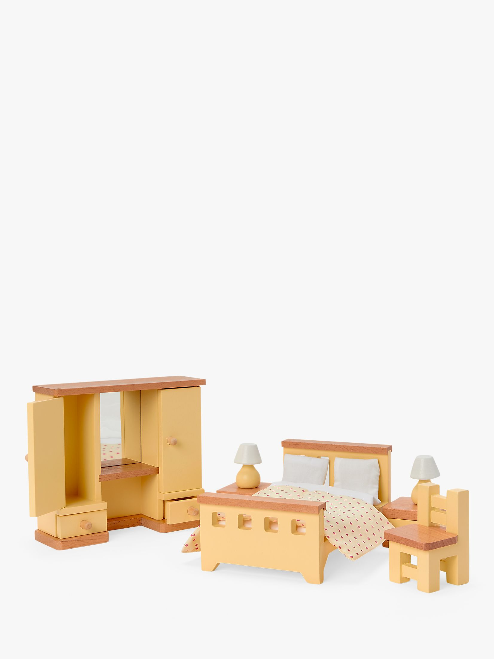 John Lewis & Partners Wooden Doll's House Bedroom Furniture