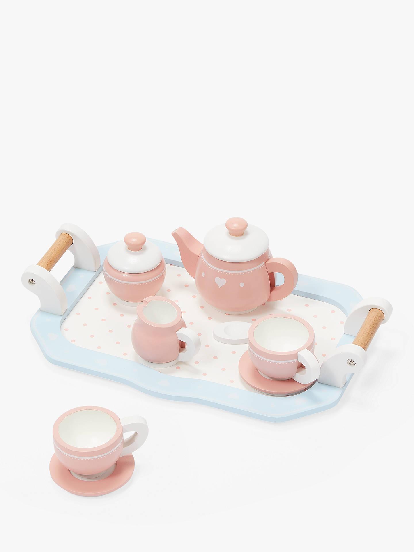 John Lewis & Partners Wooden Toy Tea Set by John Lewis & Partners