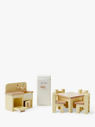 John Lewis & Partners Wooden Doll's House Kitchen Furniture