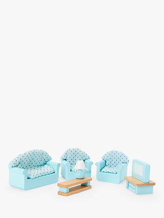 John Lewis & Partners Wooden Doll's House Living Room Furniture