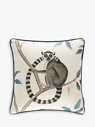 Sanderson Lemur Cushion, Blue