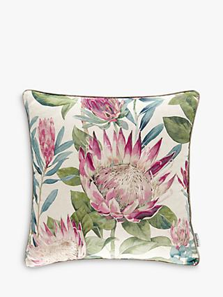 Sanderson King Protea Cushion, Rhodera