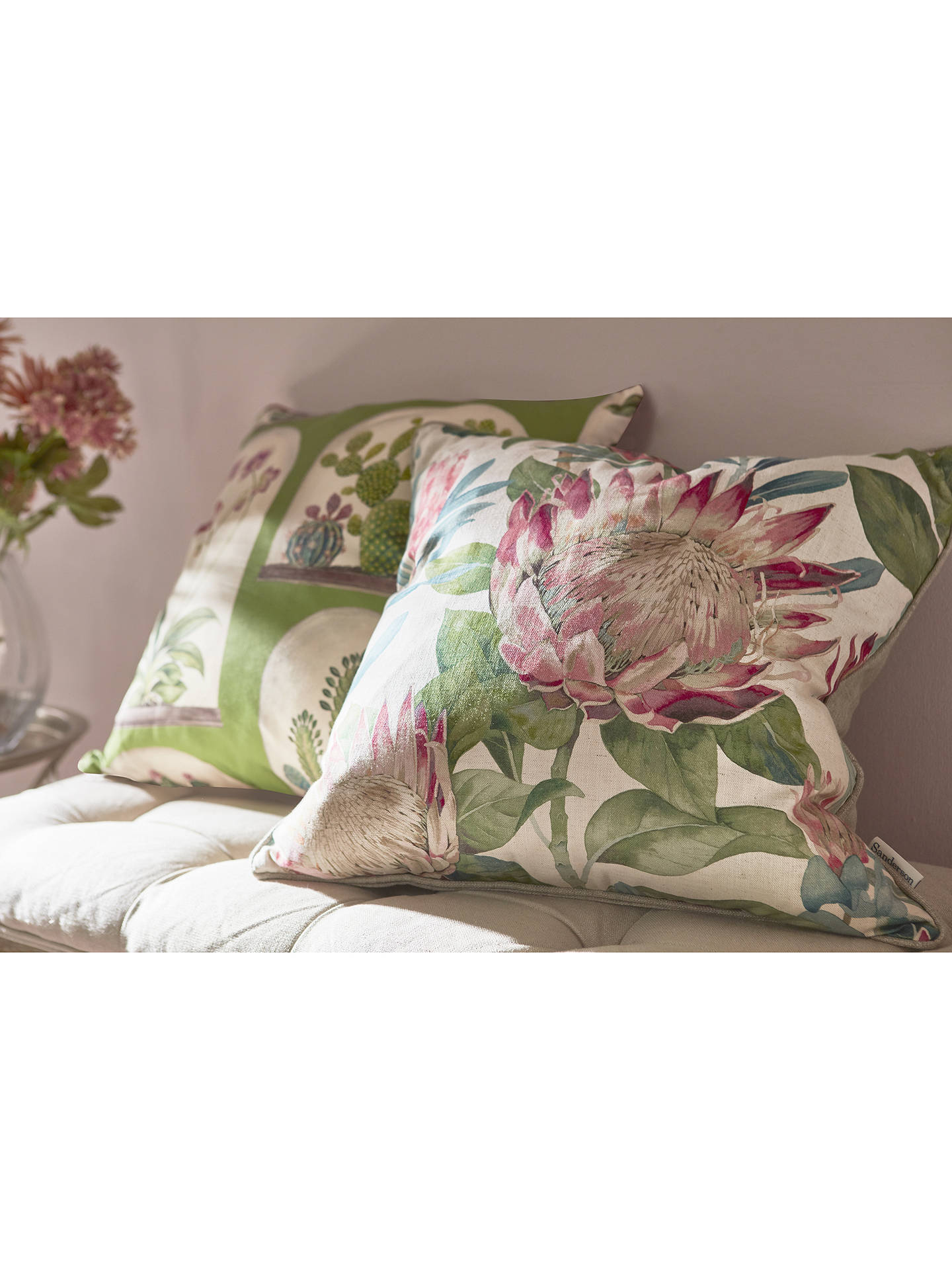 Buy Sanderson King Protea Cushion, Rhodera Online at johnlewis.com