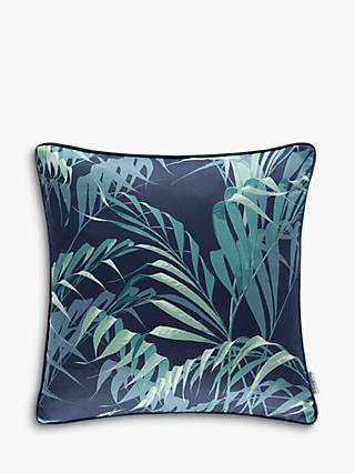 Sanderson Palmhouse Cushion, Ink / Teal