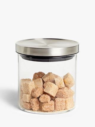 Buy House by John Lewis Airtight Stainless Steel Lid Glass Storage Jar, 450ml, Clear/Silver Online at johnlewis.com