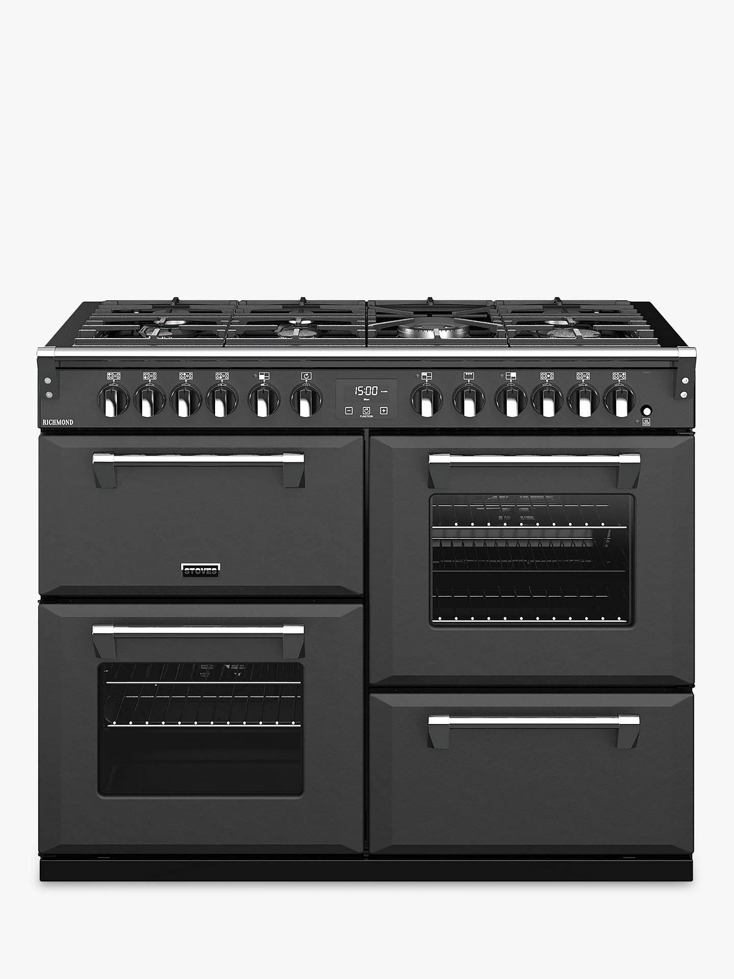 Buy Stoves Richmond S1100DF Dual Fuel Range Cooker, A Energy Rating, Anthracite Online at johnlewis.com