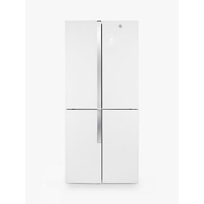 Hoover HFDN 180 UK American Style Freestanding Fridge Freezer, A+ Energy Rating, White
