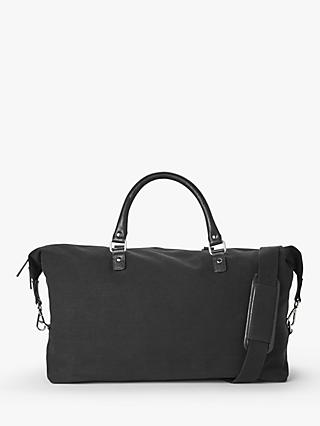 John Lewis & Partners Dublin Cotton Canvas Holdall, Black