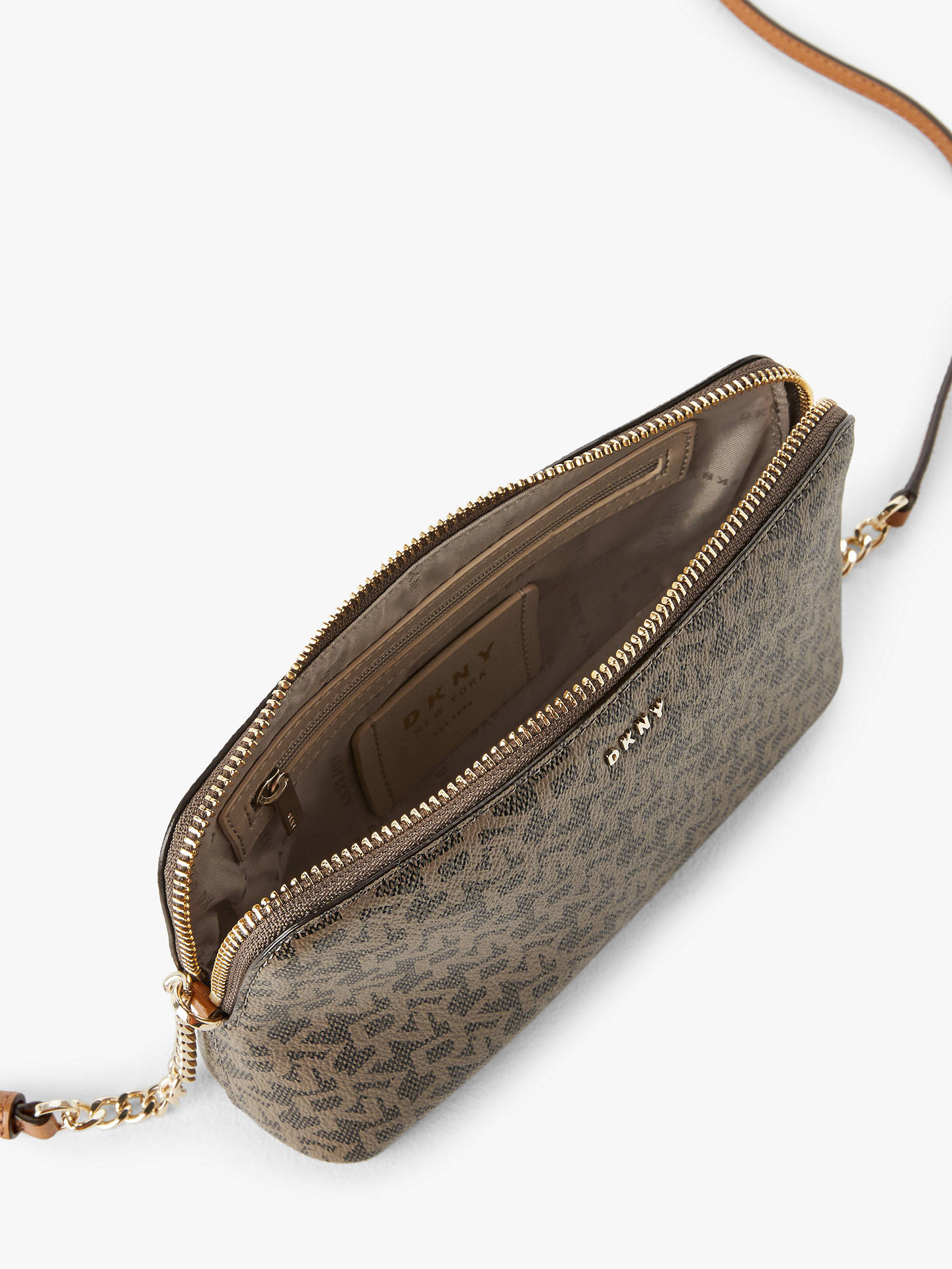 Buy DKNY Bryant Dome Logo Tote Bag, Mocha/Driftwood Online at johnlewis.com