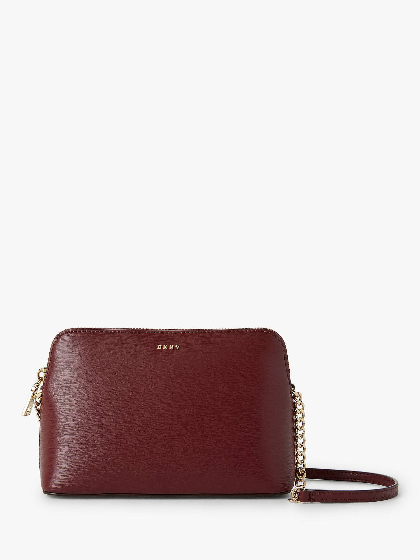 19fc638d2 Buy DKNY Bryant Dome Leather Cross Body Bag, Blood Red Online at johnlewis.com  ...