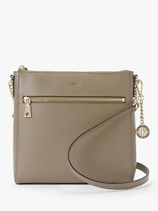 5e22187fd6df DKNY Bryant Leather Zip Top Cross Body Bag
