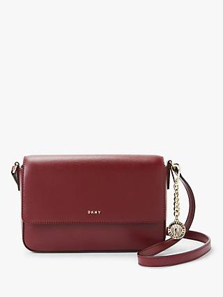 640a0e93b9c DKNY Bryant Leather Medium Flap Cross Body Bag